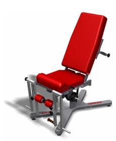 fotel koloru czerwonego