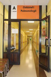 Dzwi wejściowe na I oddział Szpitala