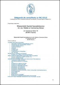 Certyfikat na białym tle z niebieskim wydrukiem oraz ikoną w kolorze niebieskim Polski Rejestr Statków