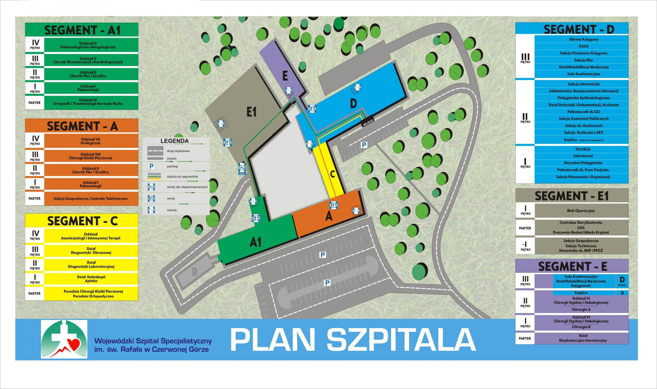plan Szpitala w Czerwonej Górze